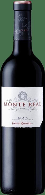 9,95 € Free Shipping | Red wine Bodegas Riojanas Monte Real Crianza D.O.Ca. Rioja The Rioja Spain Tempranillo Bottle 75 cl