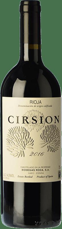 197,95 € Free Shipping | Red wine Bodegas Roda Cirsion Crianza D.O.Ca. Rioja The Rioja Spain Tempranillo Bottle 75 cl