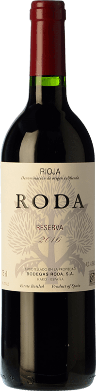 26,95 € Free Shipping | Red wine Bodegas Roda Reserva D.O.Ca. Rioja The Rioja Spain Tempranillo, Graciano Bottle 75 cl