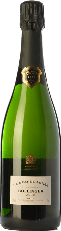 144,95 € Free Shipping | White sparkling Bollinger La Grande Année Gran Reserva 2007 A.O.C. Champagne Champagne France Pinot Black, Chardonnay Bottle 75 cl