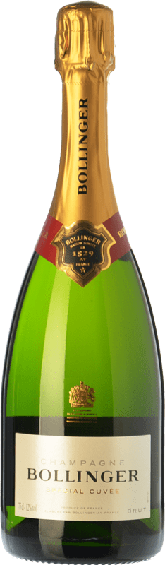 52,95 € Free Shipping | White sparkling Bollinger Spécial Cuvée Brut Gran Reserva A.O.C. Champagne Champagne France Pinot Black, Chardonnay, Pinot Meunier Bottle 75 cl