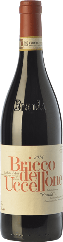 57,95 € Envío gratis | Vino tinto Braida Bricco dell'Uccellone D.O.C. Barbera d'Asti Piemonte Italia Barbera Botella 75 cl