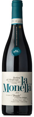12,95 € Kostenloser Versand | Rotwein Braida La Monella D.O.C. Barbera del Monferrato Piemont Italien Barbera Flasche 75 cl