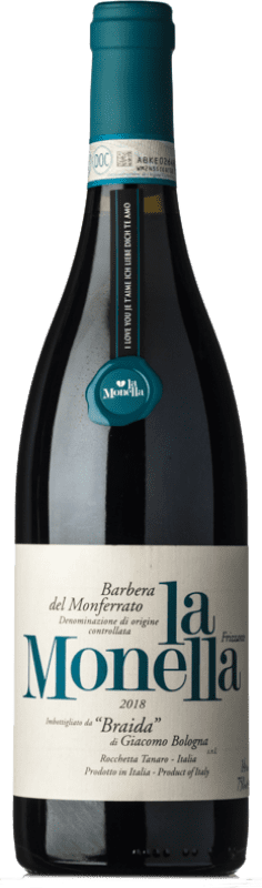 12,95 € Free Shipping | Red wine Braida La Monella D.O.C. Barbera del Monferrato Piemonte Italy Barbera Bottle 75 cl
