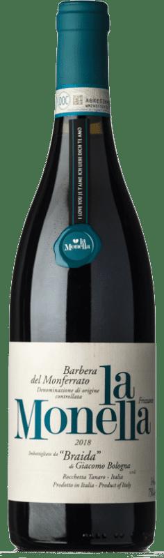 12,95 € Envío gratis | Vino tinto Braida La Monella D.O.C. Barbera del Monferrato Piemonte Italia Barbera Botella 75 cl