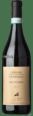 21,95 € Free Shipping | Red wine Cà del Baio Langhe Bric del Baio Crianza D.O.C. Piedmont Piemonte Italy Nebbiolo Bottle 75 cl