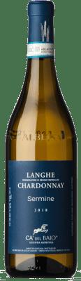 22,95 € Free Shipping | White wine Cà del Baio Langhe Sermine Crianza D.O.C. Piedmont Piemonte Italy Chardonnay Bottle 75 cl