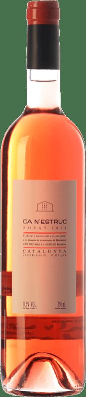 5,95 € Envío gratis | Vino rosado Ca N'Estruc Joven D.O. Catalunya Cataluña España Tempranillo, Merlot, Cabernet Sauvignon Botella 75 cl