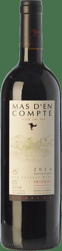 26,95 € Free Shipping | Red wine Cal Pla Mas d'en Compte Negre Crianza D.O.Ca. Priorat Catalonia Spain Grenache, Cabernet Sauvignon, Carignan Bottle 75 cl