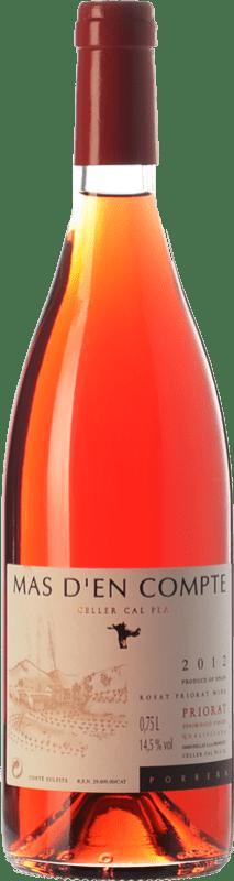 8,95 € Free Shipping | Rosé wine Cal Pla Mas d'en Compte Rosat D.O.Ca. Priorat Catalonia Spain Grenache Grey, Picapoll Black Bottle 75 cl