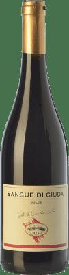 11,95 € Free Shipping | Sweet wine Calvi Sangue di Giuda D.O.C. Oltrepò Pavese Lombardia Italy Barbera, Croatina, Rara Bottle 75 cl