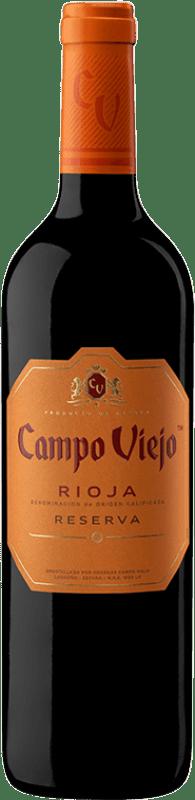 9,95 € Envoi gratuit | Vin rouge Campo Viejo Reserva D.O.Ca. Rioja La Rioja Espagne Tempranillo, Graciano, Mazuelo Bouteille 75 cl