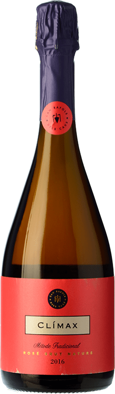 32,95 € Free Shipping | Rosé sparkling Can Ràfols Gran Caus Rosé Brut Nature Gran Reserva D.O. Cava Catalonia Spain Pinot Black Bottle 75 cl