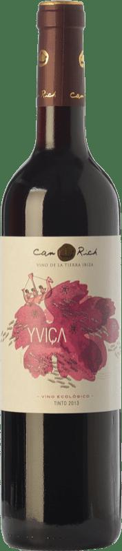 9,95 € Free Shipping | Red wine Can Rich Yviça Joven I.G.P. Vi de la Terra de Ibiza Balearic Islands Spain Tempranillo, Merlot, Monastrell Bottle 75 cl