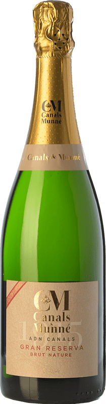 14,95 € Free Shipping | White sparkling Canals & Munné ADN Brut Nature Gran Reserva D.O. Cava Catalonia Spain Macabeo, Chardonnay, Parellada Bottle 75 cl | Thousands of wine lovers trust us to get the best price guarantee, free shipping always and hassle-free shopping and returns.