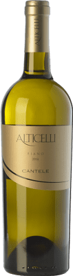 14,95 € Free Shipping | White wine Cantele Alticelli I.G.T. Salento Campania Italy Fiano Bottle 75 cl