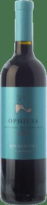 23,95 € Free Shipping | Red wine Cap de Barbaria Ophiusa Joven I.G.P. Vi de la Terra de Formentera Balearic Islands Spain Merlot, Cabernet Sauvignon, Monastrell, Fogoneu Bottle 75 cl