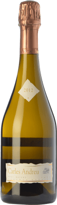 18,95 € Kostenloser Versand | Weißer Sekt Carles Andreu Barrica Brut Natur Reserva D.O. Cava Katalonien Spanien Macabeo, Chardonnay, Parellada Flasche 75 cl
