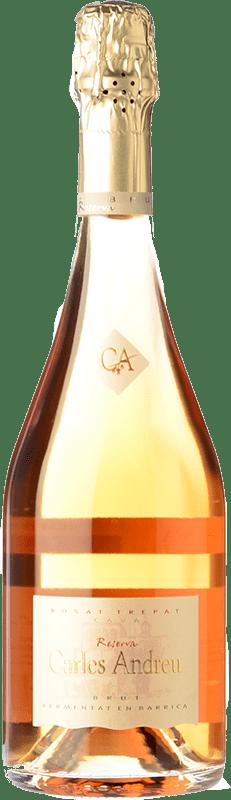 26,95 € Free Shipping | Rosé sparkling Carles Andreu Rosat Barrica Brut Reserva D.O. Cava Catalonia Spain Trepat Bottle 75 cl