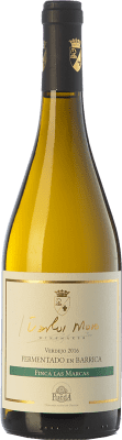 17,95 € Free Shipping | White wine Carlos Moro Finca Las Marcas Crianza D.O. Rueda Castilla y León Spain Verdejo Bottle 75 cl | Thousands of wine lovers trust us to get the best price guarantee, free shipping always and hassle-free shopping and returns.