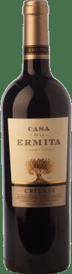 8,95 € Envío gratis | Vino tinto Casa de la Ermita Crianza D.O. Jumilla Castilla la Mancha España Tempranillo, Cabernet Sauvignon, Monastrell, Petit Verdot Botella 75 cl