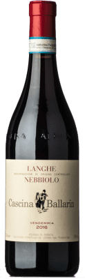 19,95 € Free Shipping | Red wine Cascina Ballarin D.O.C. Langhe Piemonte Italy Nebbiolo Bottle 75 cl
