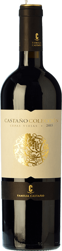 16,95 € Free Shipping | Red wine Castaño Colección Cepas Viejas Crianza D.O. Yecla Region of Murcia Spain Cabernet Sauvignon, Monastrell Bottle 75 cl