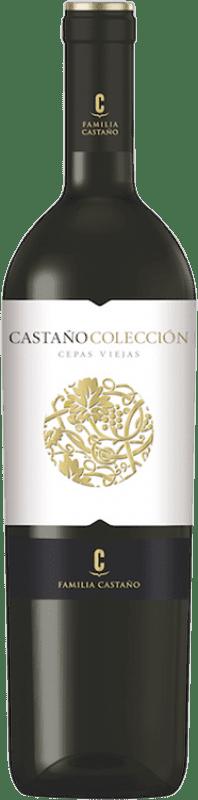 14,95 € Envío gratis | Vino tinto Castaño Colección Cepas Viejas Crianza D.O. Yecla Región de Murcia España Cabernet Sauvignon, Monastrell Botella 75 cl