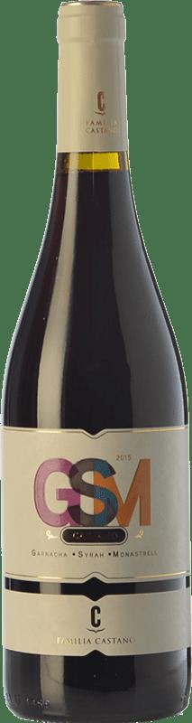 7,95 € Free Shipping | Red wine Castaño GSM Joven D.O. Yecla Region of Murcia Spain Syrah, Monastrell, Grenache Tintorera Bottle 75 cl