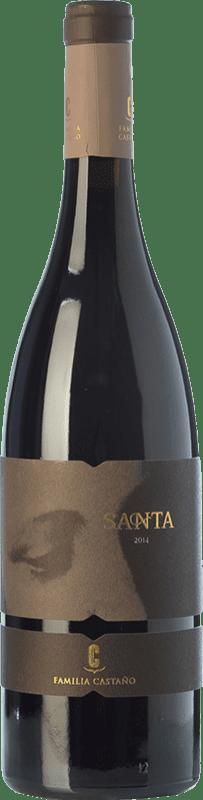 19,95 € Free Shipping | Red wine Castaño Santa Crianza D.O. Yecla Region of Murcia Spain Monastrell, Grenache Tintorera Bottle 75 cl