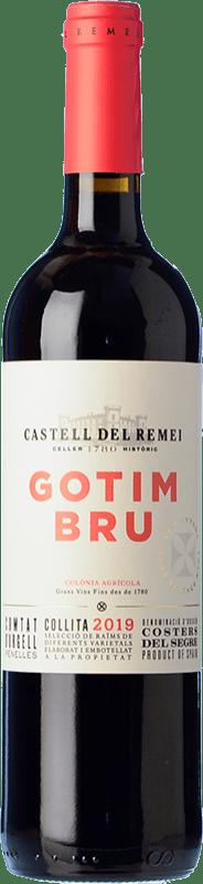 7,95 € Envío gratis | Vino tinto Castell del Remei Gotim Bru Joven D.O. Costers del Segre Cataluña España Tempranillo, Merlot, Syrah, Garnacha, Cabernet Sauvignon Botella 75 cl