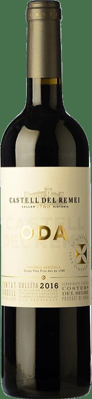 13,95 € Envío gratis | Vino tinto Castell del Remei Oda Crianza D.O. Costers del Segre Cataluña España Tempranillo, Merlot, Garnacha, Cabernet Sauvignon Botella 75 cl