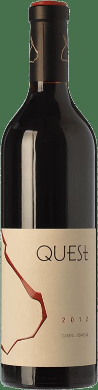 43,95 € Free Shipping | Red wine Castell d'Encús Quest Joven D.O. Costers del Segre Catalonia Spain Merlot, Cabernet Sauvignon, Cabernet Franc, Petit Verdot Bottle 75 cl