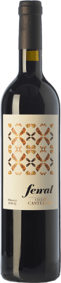 9,95 € Free Shipping | Red wine Castellet Ferral Crianza D.O.Ca. Priorat Catalonia Spain Merlot, Syrah, Grenache, Cabernet Sauvignon, Grenache Hairy Bottle 75 cl