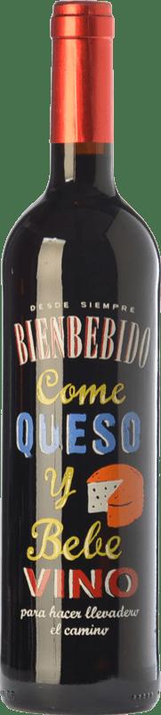 6,95 € Free Shipping | Red wine Castillo de Maetierra Come Queso y Bebe Vino Joven D.O. Toro Castilla y León Spain Tempranillo Bottle 75 cl
