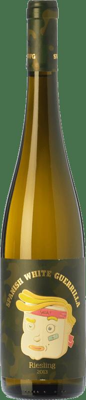7,95 € Free Shipping | White wine Castillo de Maetierra Spanish White Guerrilla I.G.P. Vino de la Tierra Valles de Sadacia The Rioja Spain Riesling Bottle 75 cl