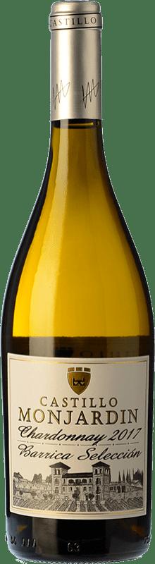 12,95 € Free Shipping | White wine Castillo de Monjardín Barrica Selección Crianza D.O. Navarra Navarre Spain Chardonnay Bottle 75 cl
