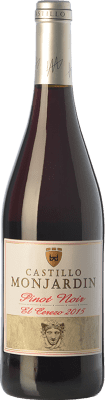 12,95 € Free Shipping | Red wine Castillo de Monjardín El Cerezo Joven D.O. Navarra Navarre Spain Pinot Black Bottle 75 cl