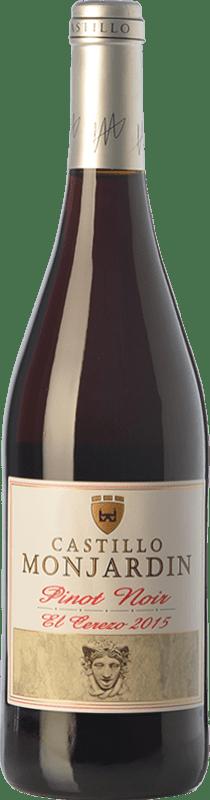 8,95 € Free Shipping | Red wine Castillo de Monjardín El Cerezo Joven D.O. Navarra Navarre Spain Pinot Black Bottle 75 cl