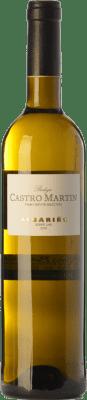 9,95 € Envío gratis | Vino blanco Castro Martín D.O. Rías Baixas Galicia España Albariño Botella 75 cl