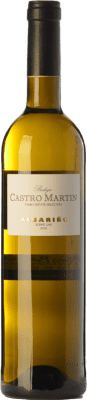 9,95 € Kostenloser Versand | Weißwein Castro Martín D.O. Rías Baixas Galizien Spanien Albariño Flasche 75 cl