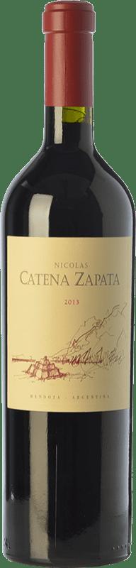 79,95 € Envío gratis | Vino tinto Catena Zapata Nicolás Reserva I.G. Mendoza Mendoza Argentina Cabernet Sauvignon, Malbec Botella 75 cl