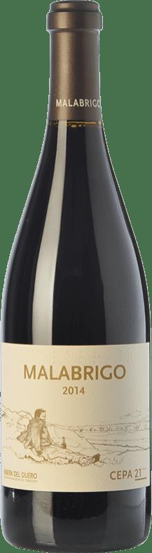 45,95 € Free Shipping | Red wine Cepa 21 Malabrigo Reserva D.O. Ribera del Duero Castilla y León Spain Tempranillo Bottle 75 cl