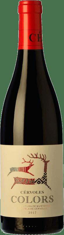23,95 € Envío gratis | Vino tinto Cérvoles Colors Joven D.O. Costers del Segre Cataluña España Tempranillo, Merlot, Syrah, Garnacha, Cabernet Sauvignon Botella Mágnum 1,5 L