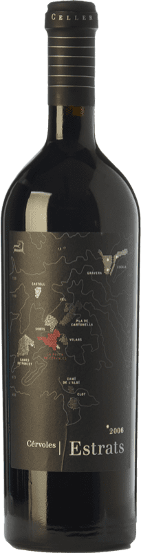 59,95 € Free Shipping | Red wine Cérvoles Estrats Crianza 2009 D.O. Costers del Segre Catalonia Spain Tempranillo, Grenache, Cabernet Sauvignon Bottle 75 cl
