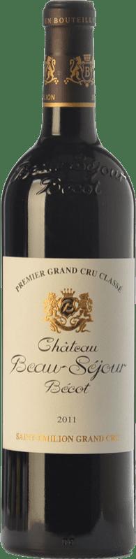 74,95 € Free Shipping | Red wine Château Joanin Bécot Crianza A.O.C. Saint-Émilion Grand Cru Bordeaux France Merlot, Cabernet Sauvignon, Cabernet Franc Bottle 75 cl