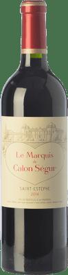 29,95 € Envío gratis | Vino tinto Château Calon Ségur Le Marquis de Calon A.O.C. Saint-Estèphe Burdeos Francia Merlot, Cabernet Sauvignon, Cabernet Franc, Petit Verdot Botella 75 cl