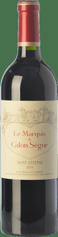 29,95 € Free Shipping | Red wine Château Calon Ségur Le Marquis de Calon A.O.C. Saint-Estèphe Bordeaux France Merlot, Cabernet Sauvignon, Cabernet Franc, Petit Verdot Bottle 75 cl