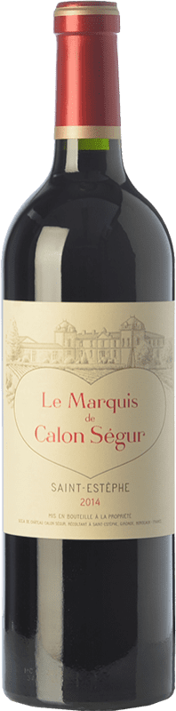 29,95 € Envoi gratuit | Vin rouge Château Calon Ségur Le Marquis de Calon A.O.C. Saint-Estèphe Bordeaux France Merlot, Cabernet Sauvignon, Cabernet Franc, Petit Verdot Bouteille 75 cl
