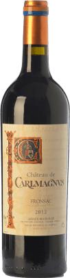 16,95 € Free Shipping | Red wine Château Carlmagnus Crianza A.O.C. Fronsac Bordeaux France Merlot Bottle 75 cl